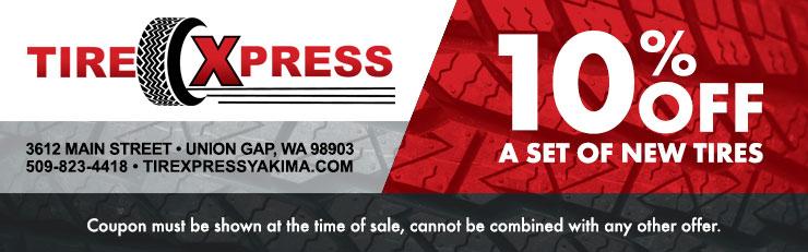 Tires Xpress Yakima Discount Coupons